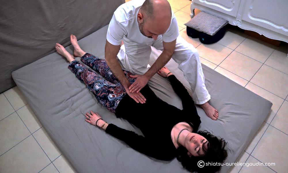 manipulation shiatsu séance